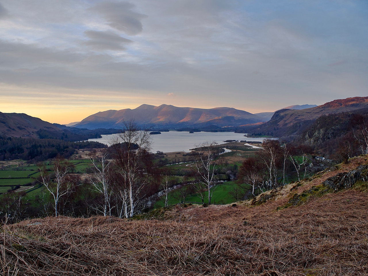 Skiddaw bathed in light